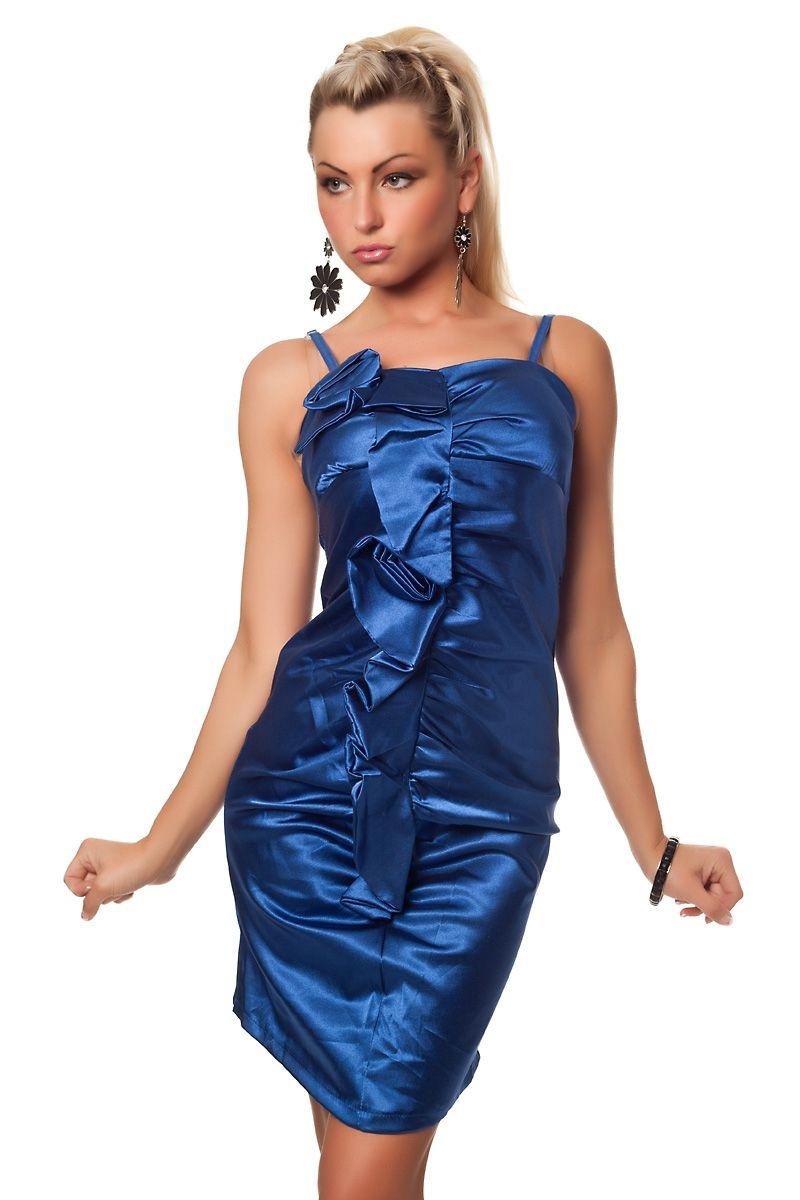 Платье с цветами синее (46) - Коктейльные платья, р.46