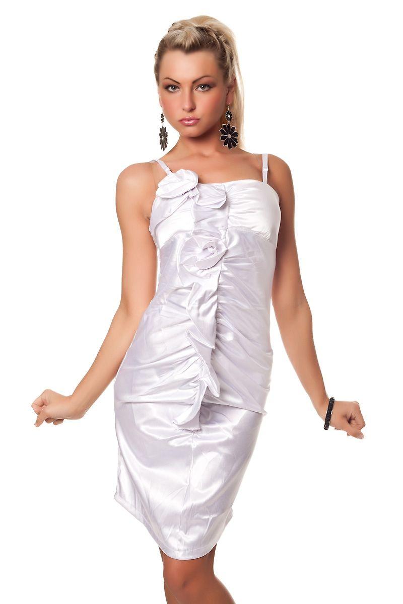 Платье с цветами белое (46)