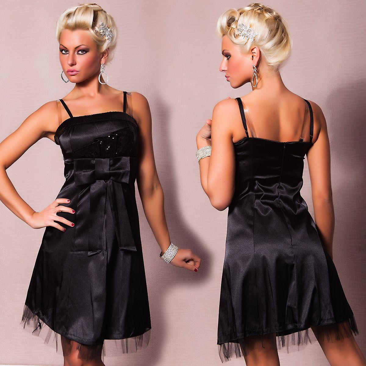 Платье с бантом черное (46) - Платья для клуба, р.46