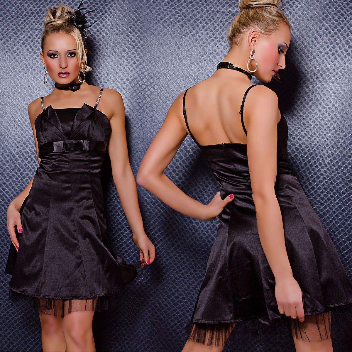 Свободное платье черное (42) - Платья для клуба, р.42