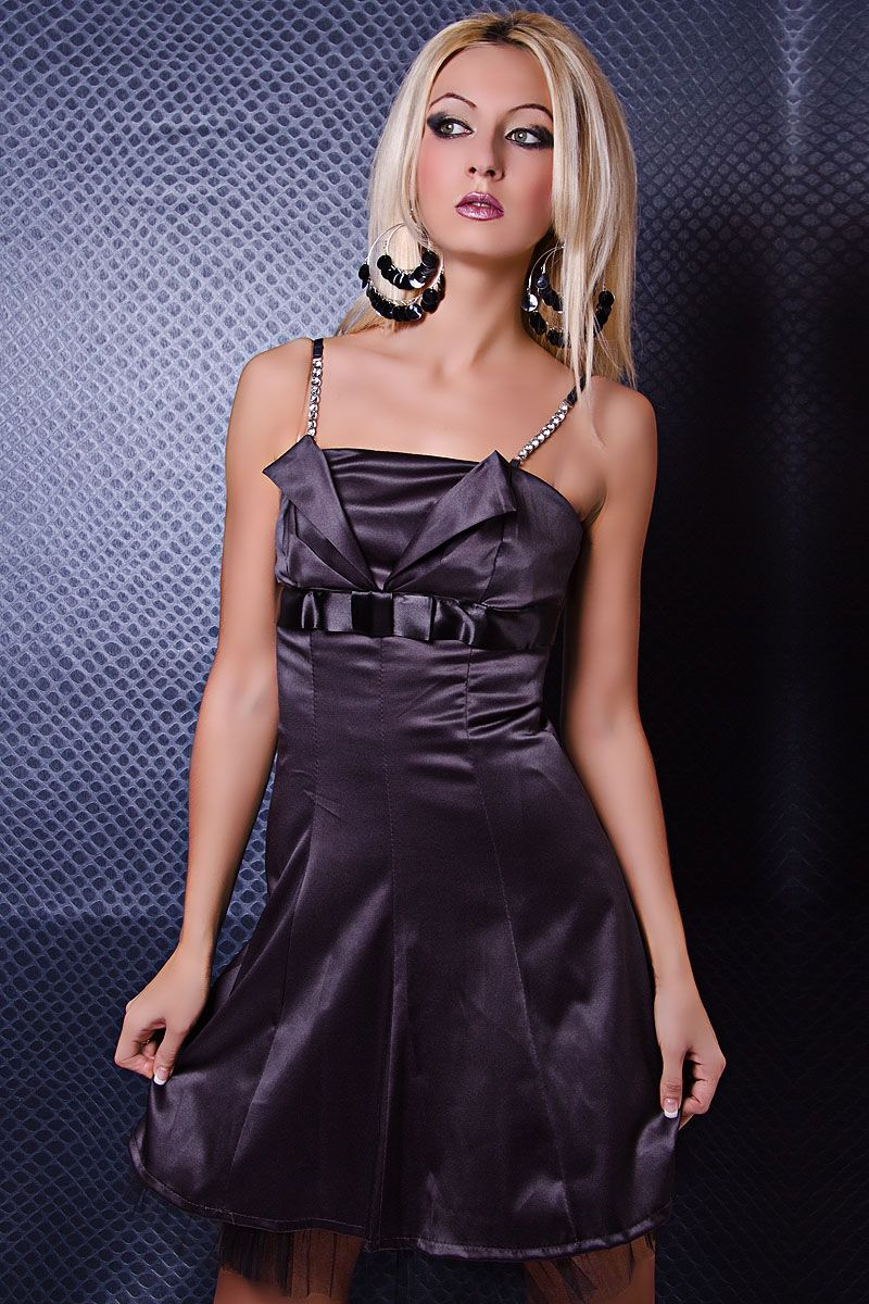 Свободное платье темно-серое (46) - Платья для клуба, р.46