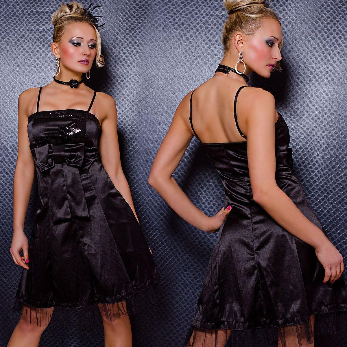 Платье с бантиком черное (48) - Платья для клуба, р.48