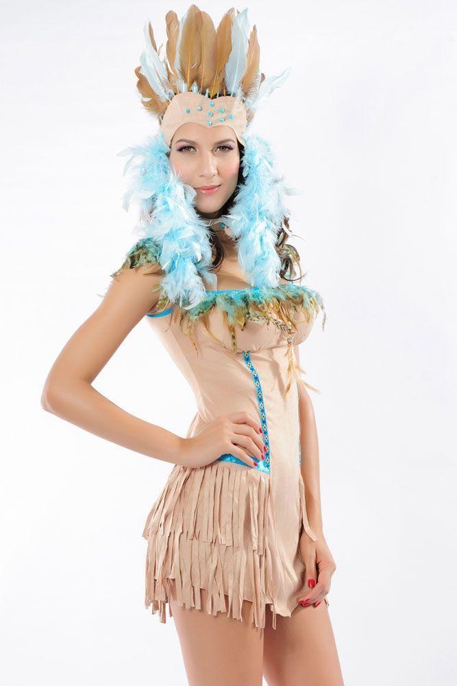 Костюм изящной индейской красотки (42)  клетчатый костюм красотки 48