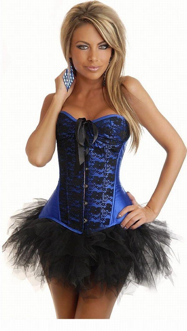 купить Корсет синий с юбкой (44-46) в интернет-магазине