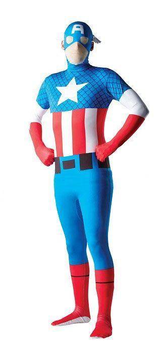 Костюм Капитана Америка вторая кожа (54) - Супергерои и комиксы, р.54