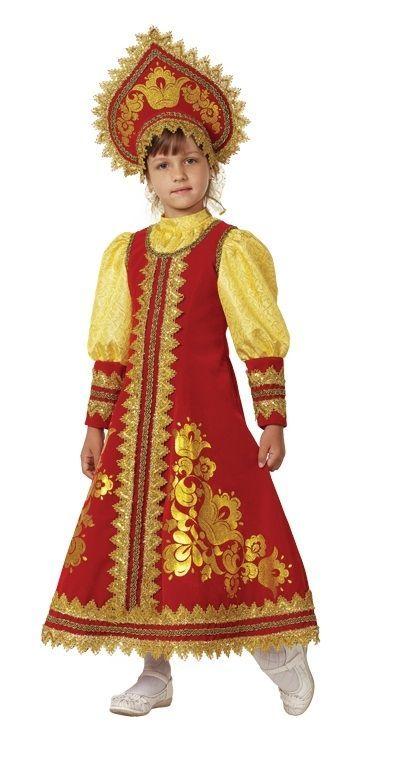 Детский костюм Сударушки (34) сарафан белый кружевной