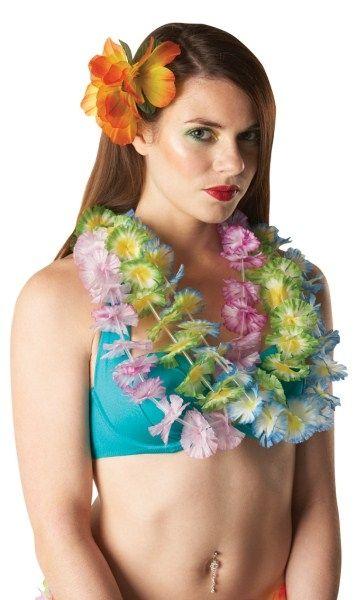 Зеленые гавайские цветочные бусы (UNI) - Национальные костюмы