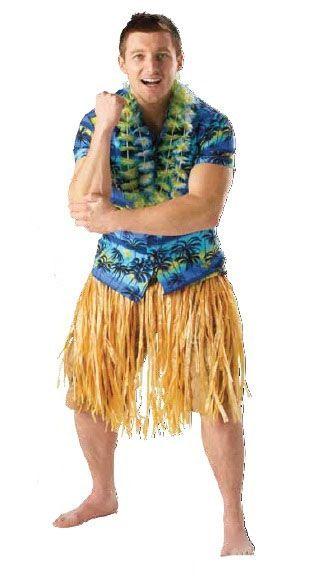 Гавайская бежевая юбка (UNI) - Национальные костюмы