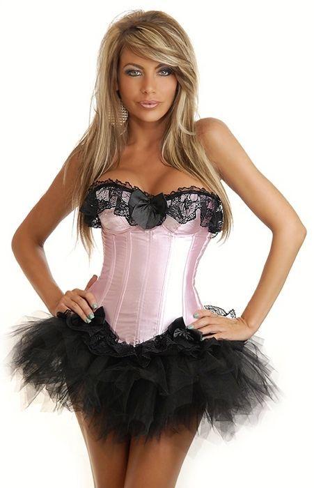 Розовый корсет с черной юбкой (44) Dg Lover 130629708