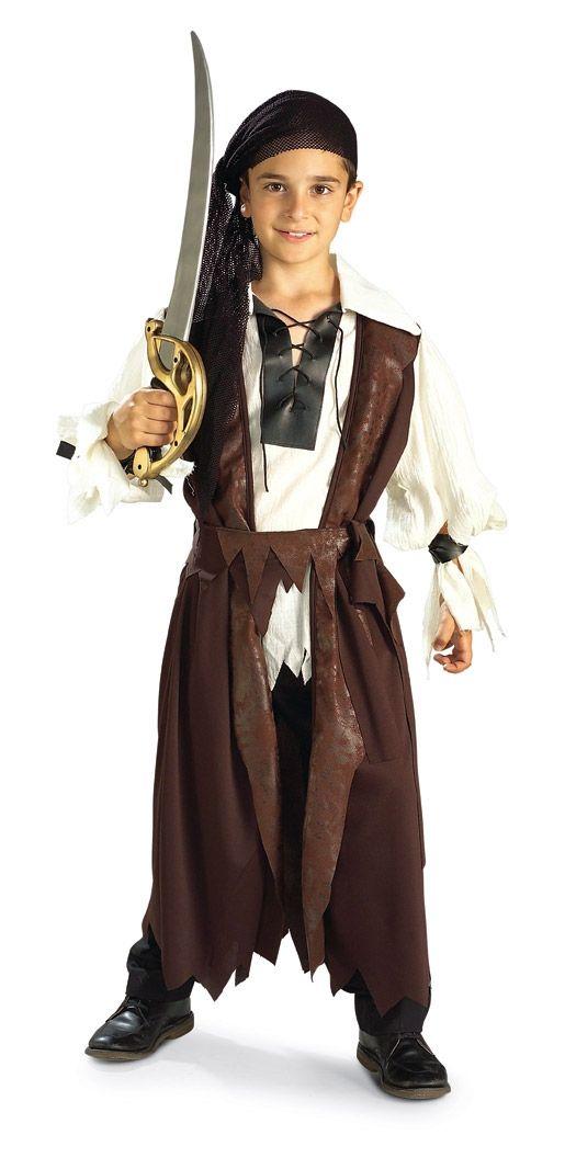 купить Костюм карибского пирата детский (32-34) недорого
