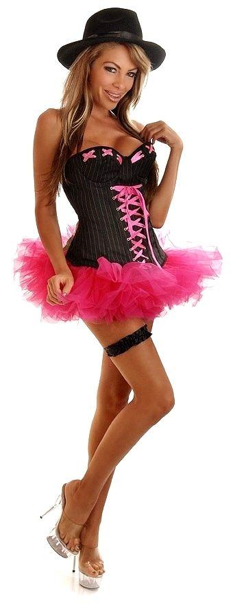 Корсетный костюм девушки гангстера (50-52) - Ретро, р.50-52