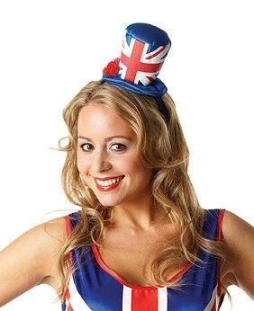 Мини шляпка флаг Англии (UNI) - Шляпы карнавальные