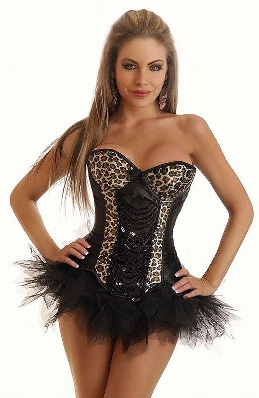Корсет с леопардовыми вставками и юбкой (44) Dg Lover 130637202