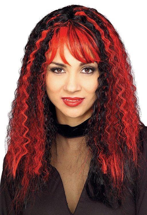 Красно-черный зловещий парик ведьмы (UNI) - Ведьмы и колдуны