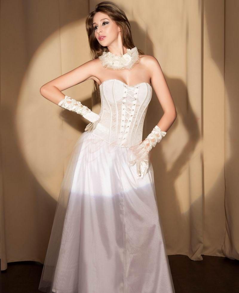 Белый кружевной свадебный корсет (44) Dg Lover 130638201
