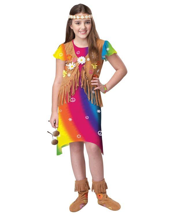 Детский костюм яркой хиппи (34-36) костюм цветочной хиппи 48