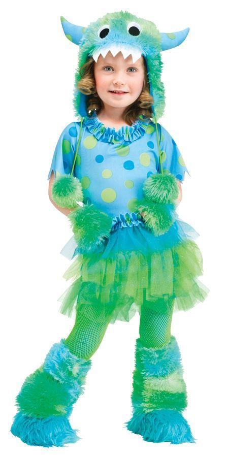 Детский костюм забавного монстра (L) перчатки без пальцев шерстяные с рисунком зеленые