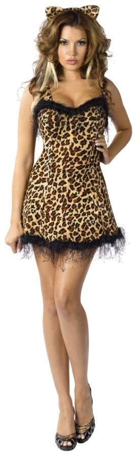 Платье леопардовое с ушками (46) - Животные и зверушки, р.46