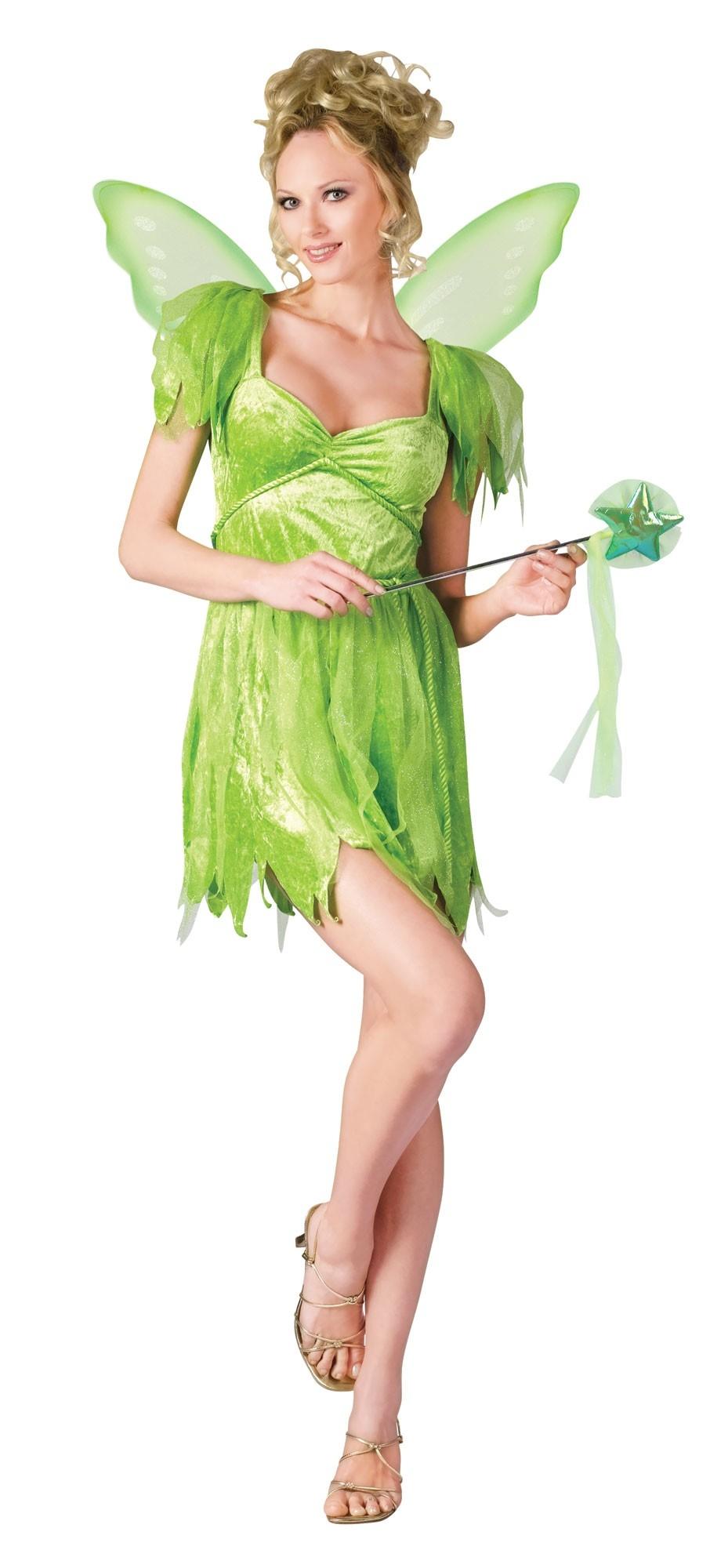 Костюм феи Динь-Динь зеленый (46-48) - Ведьмы и колдуны, р.46-48