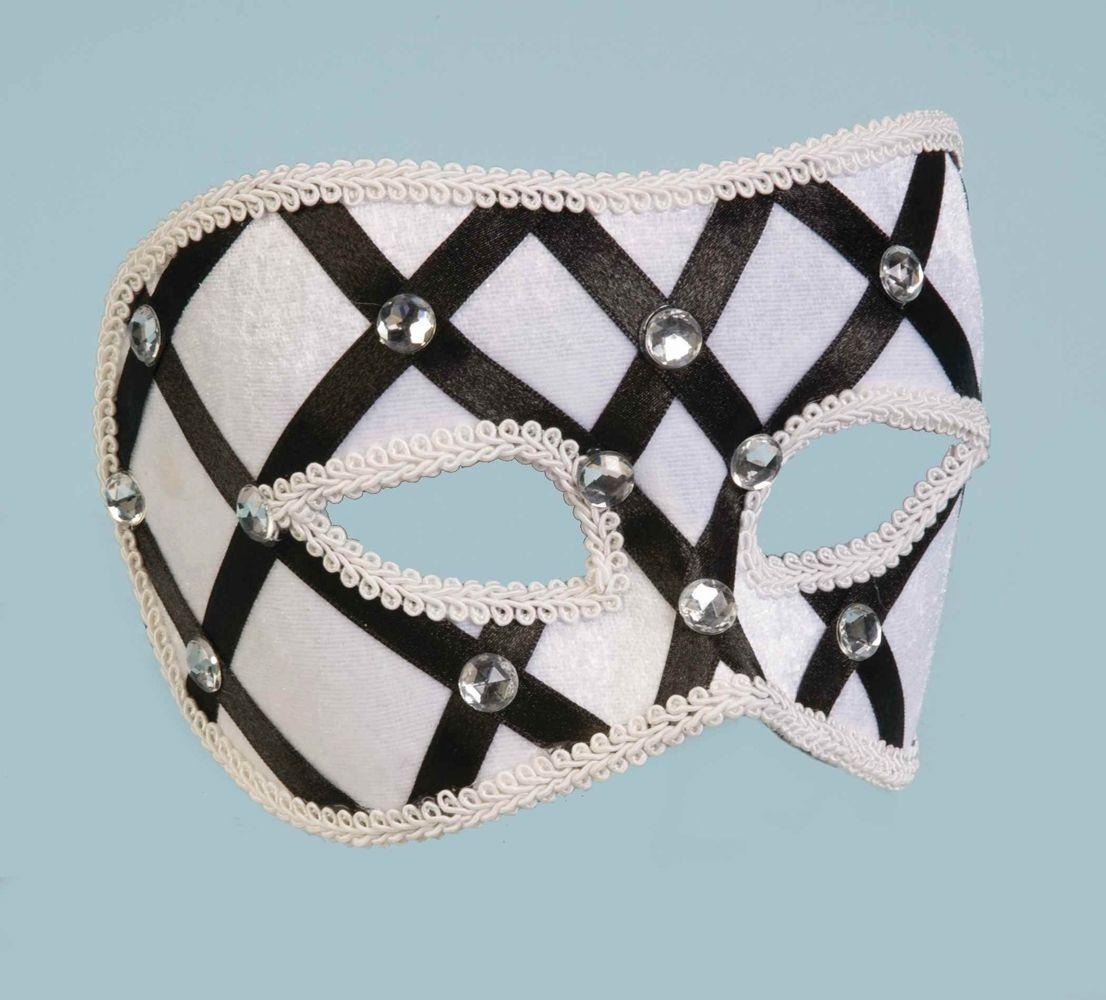 Бело-черная венецианская маска - Карнавальные маски