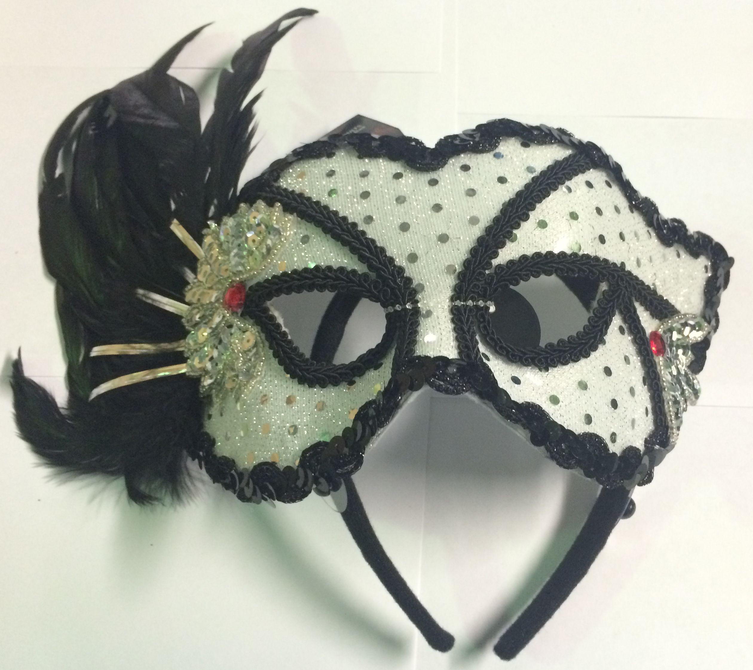 Серебряная карнавальная маска (42-46) - Карнавальные маски, р.42-46