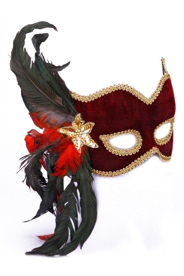Бордовая карнавальная маска - Карнавальные маски