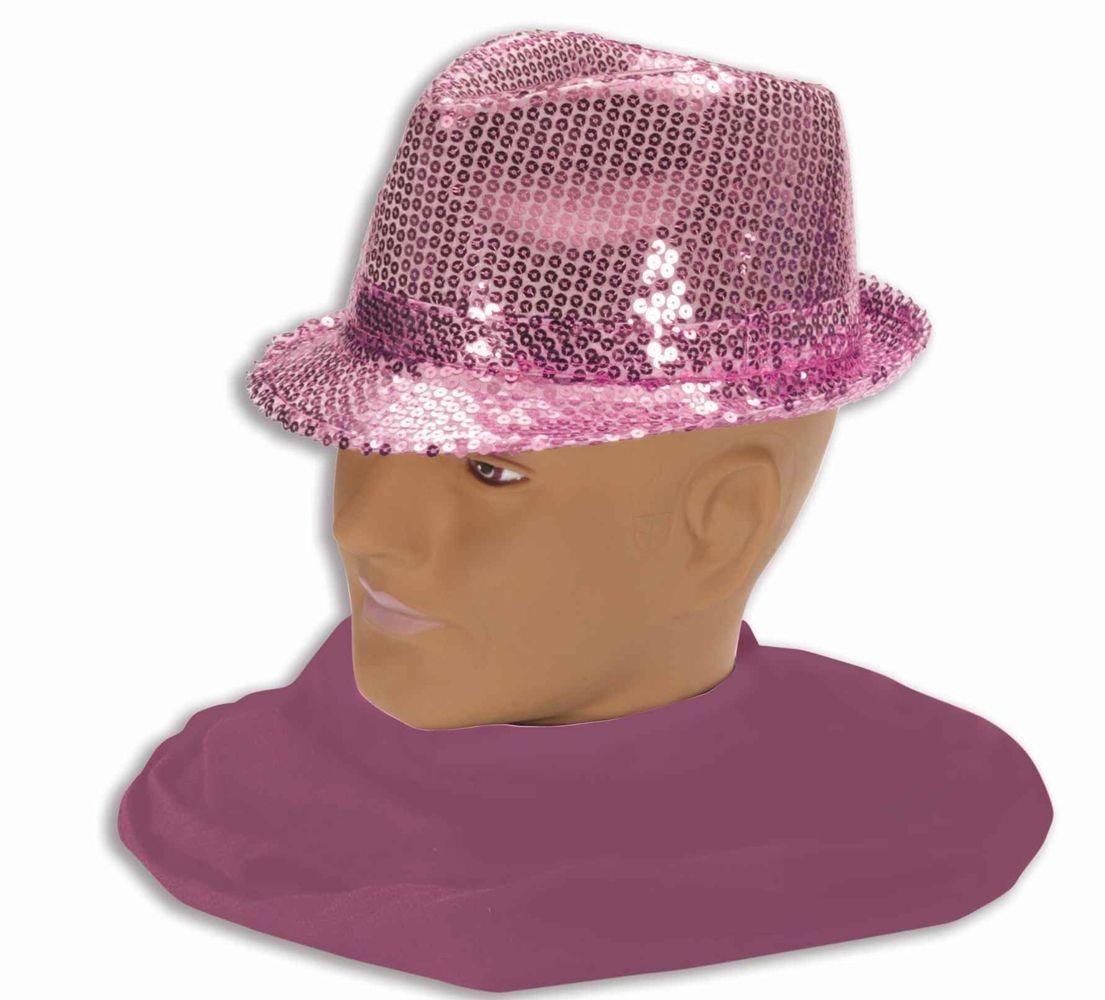 Шляпа федора розовая (42-46)