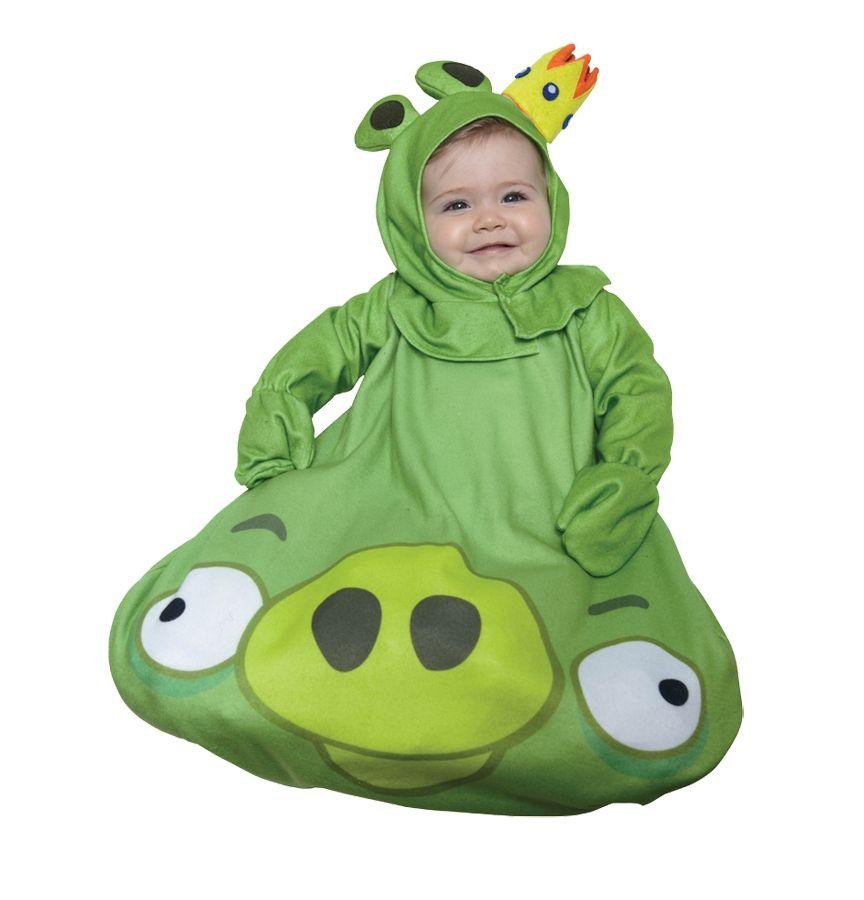 Зеленый костюм свинки из Angry Birds (18-22) - Животные и зверушки, р.18-22
