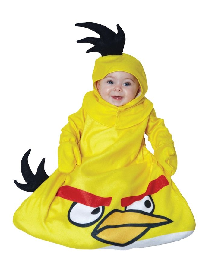 Желтый костюм Angry Birds для малышей (18-22) - Животные и зверушки, р.18-22