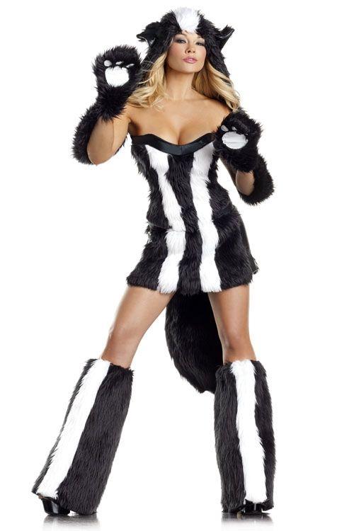 Пушистый костюм милашки скунса (46) - Животные и зверушки, р.46