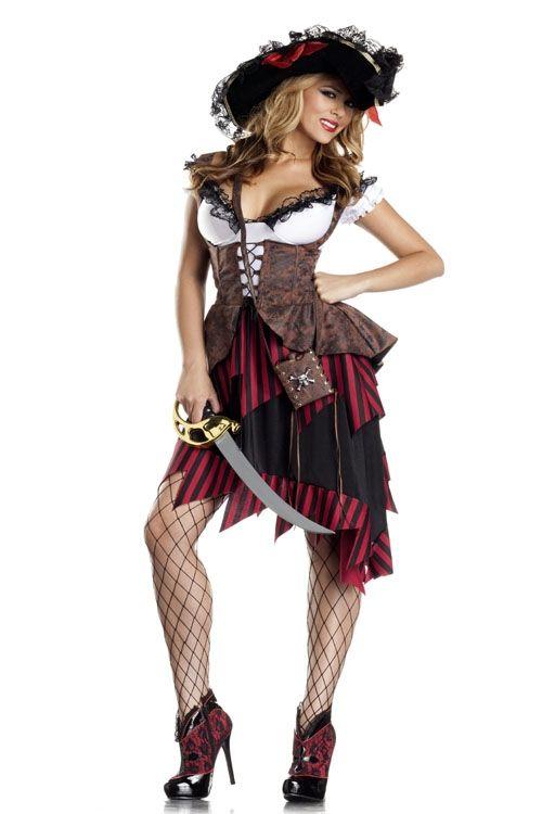 Костюм горячей пиратки хулиганки (44) - Пираты и моряки, р.44