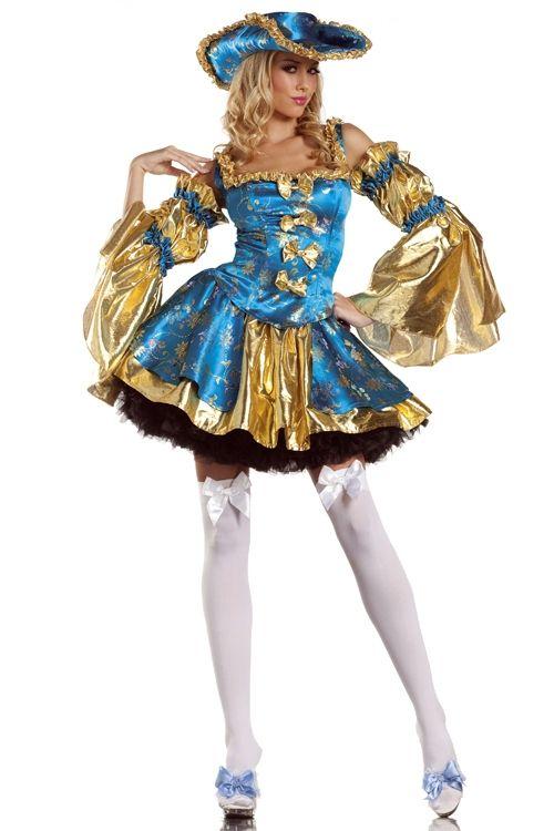 Голубой костюм Антуанетты (46) - Пираты и моряки, р.46