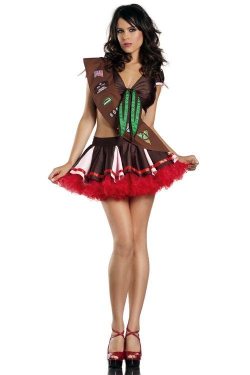 Коричневый костюм девушки скаута (46-48) - Национальные костюмы, р.46-48