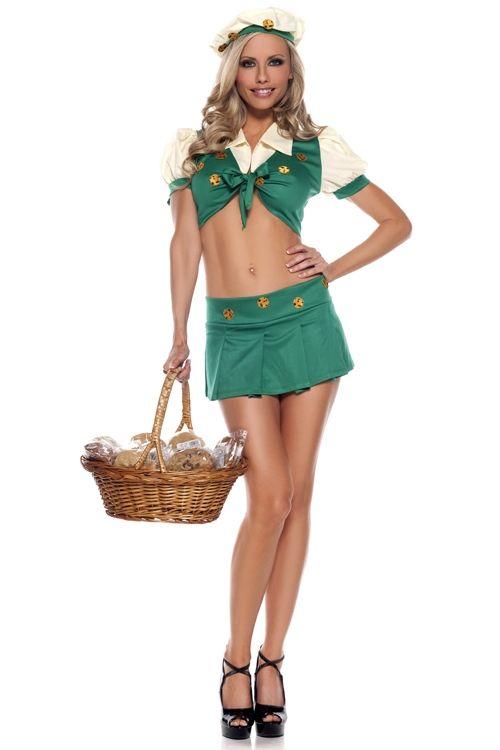 Зеленый костюм Девочка скаут (46-48) - Национальные костюмы, р.46-48