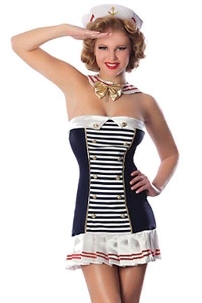 Бело-синий костюм морячки (44-48) - Пираты и моряки, р.44-48