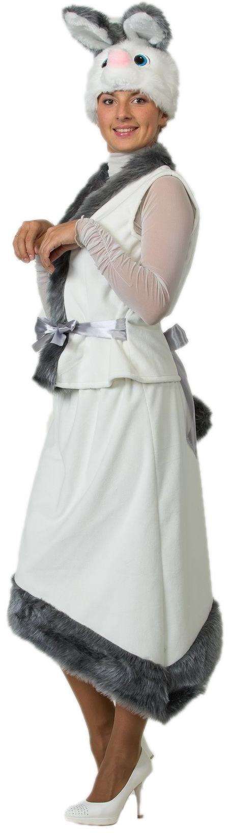Плюшевый костюм Белой Зайки (44) - Животные и зверушки, р.44