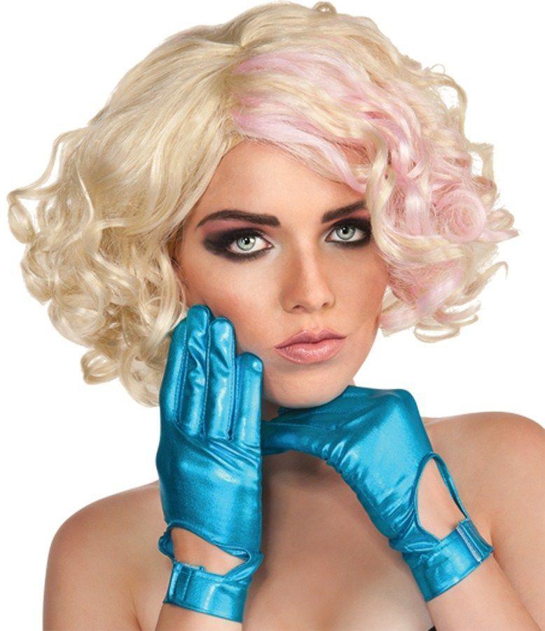 Голубые перчатки леди Гага (UNI) - Перчатки и рукава