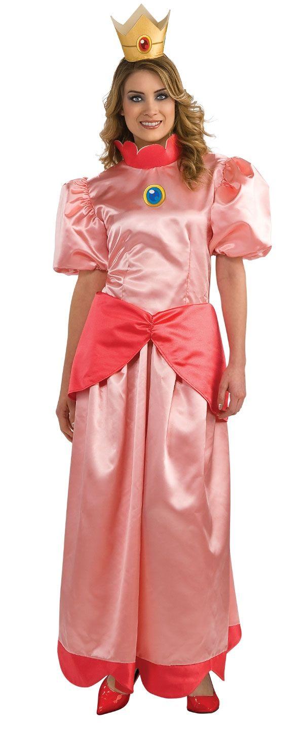 Взрослый костюм принцессы Пич (42) - Герои видеоигр, р.42