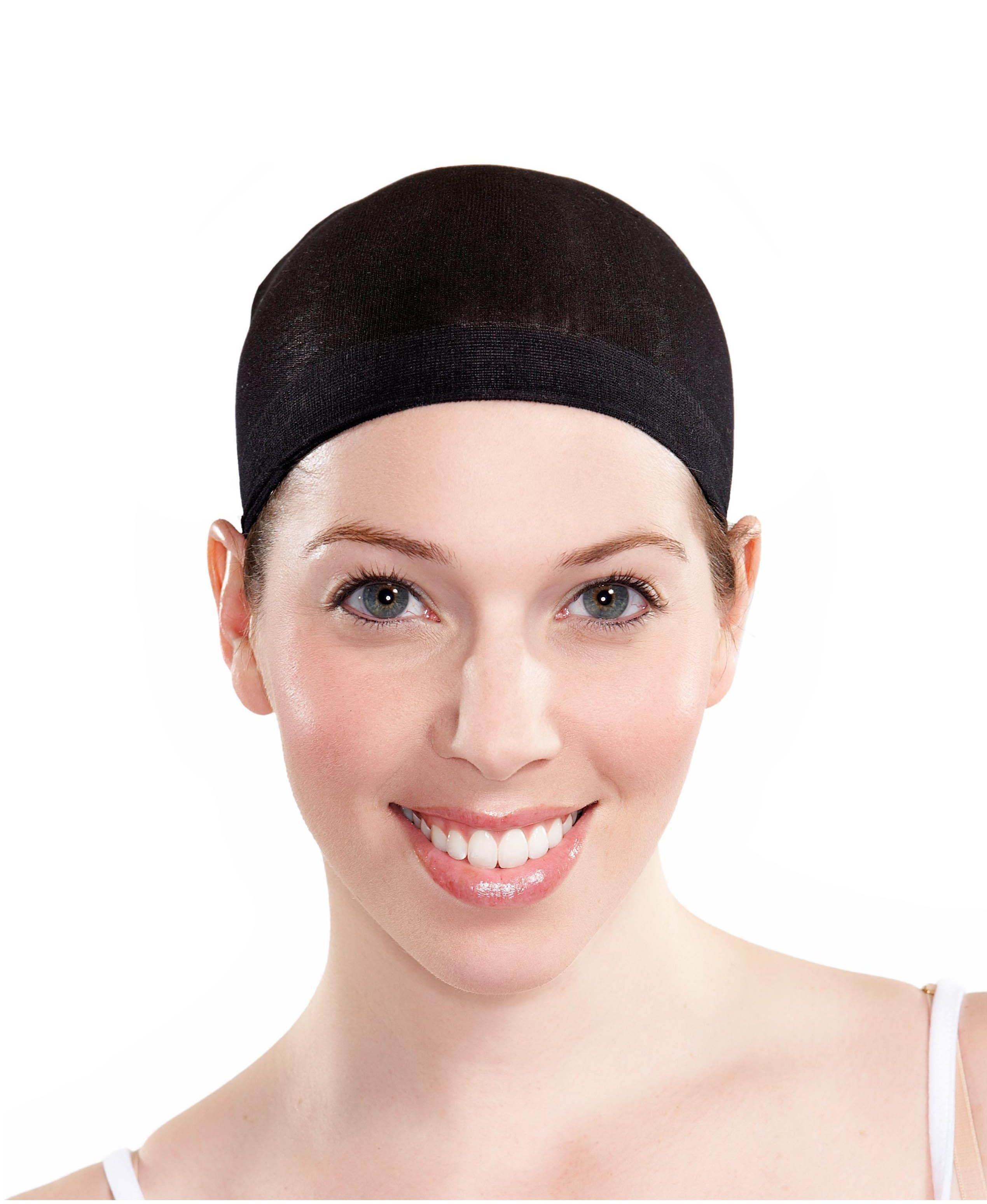 Черная шапочка под парик в сетку (46) - Парики и волосы, р.46