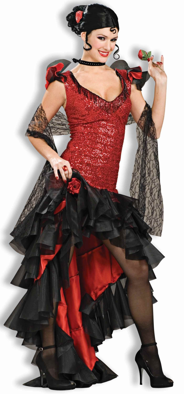 Костюм испанской танцовщицы фламенко (52) - Национальные костюмы, р.52
