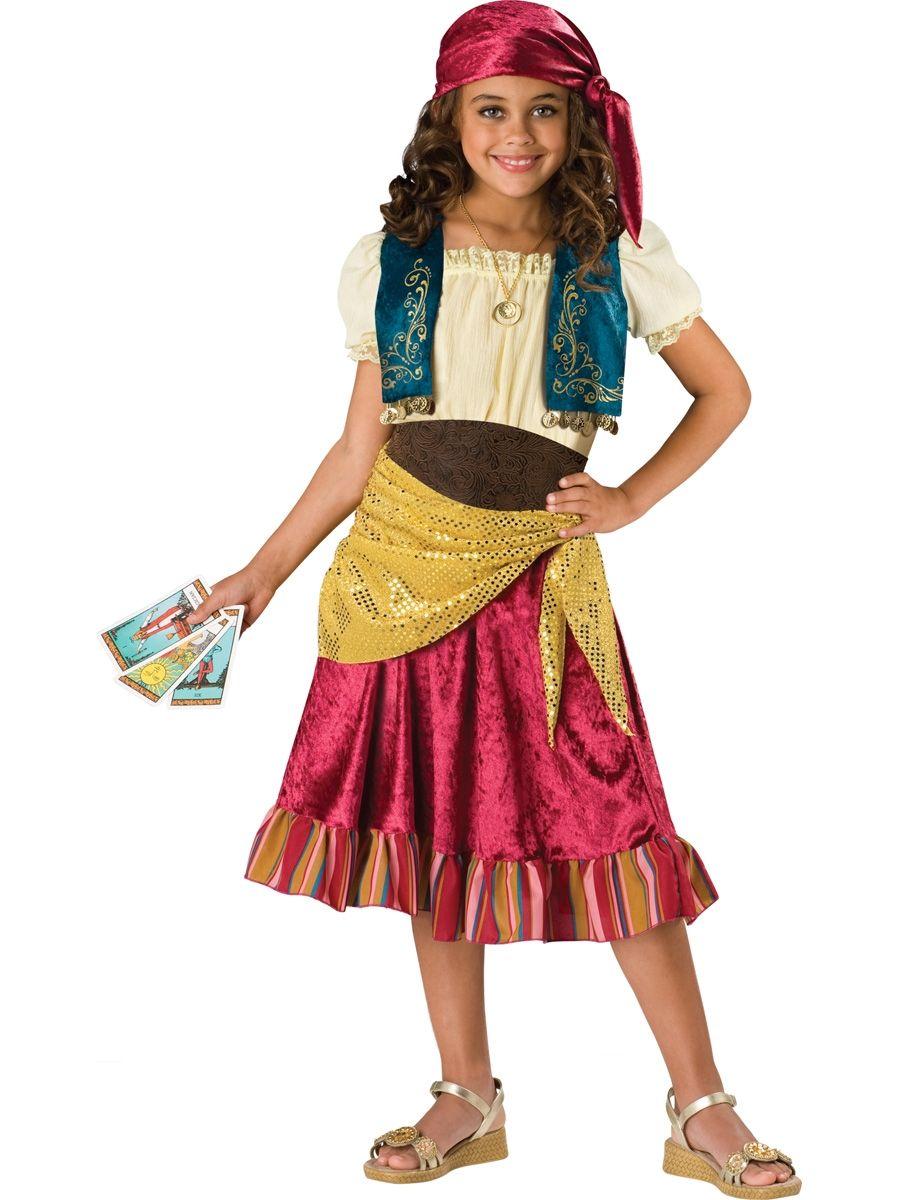 Костюм загадочной цыганки детский (40) - Национальные костюмы, р.40