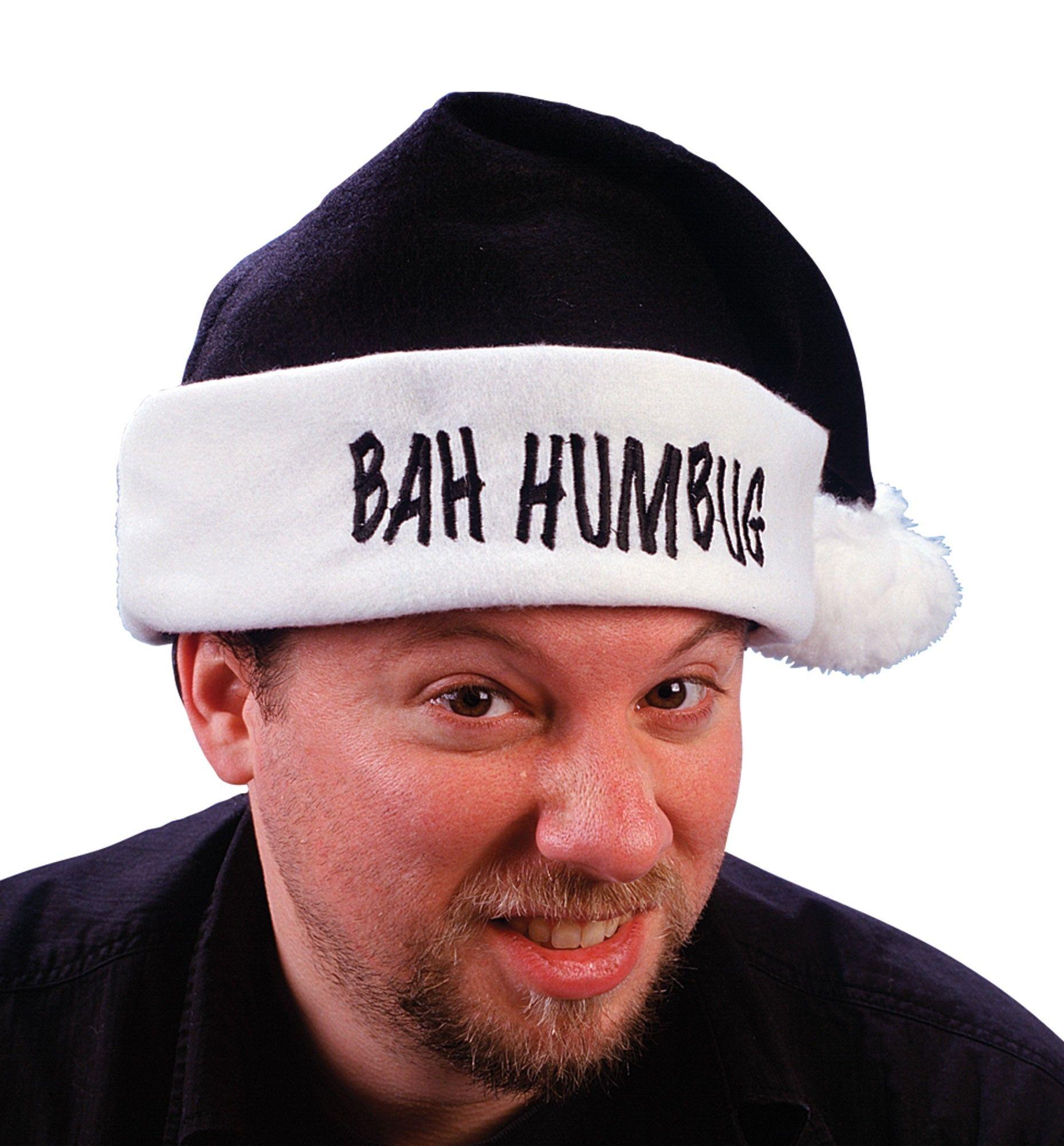 Черная шапка Санты Bah Humbug (UNI) - Шляпы карнавальные