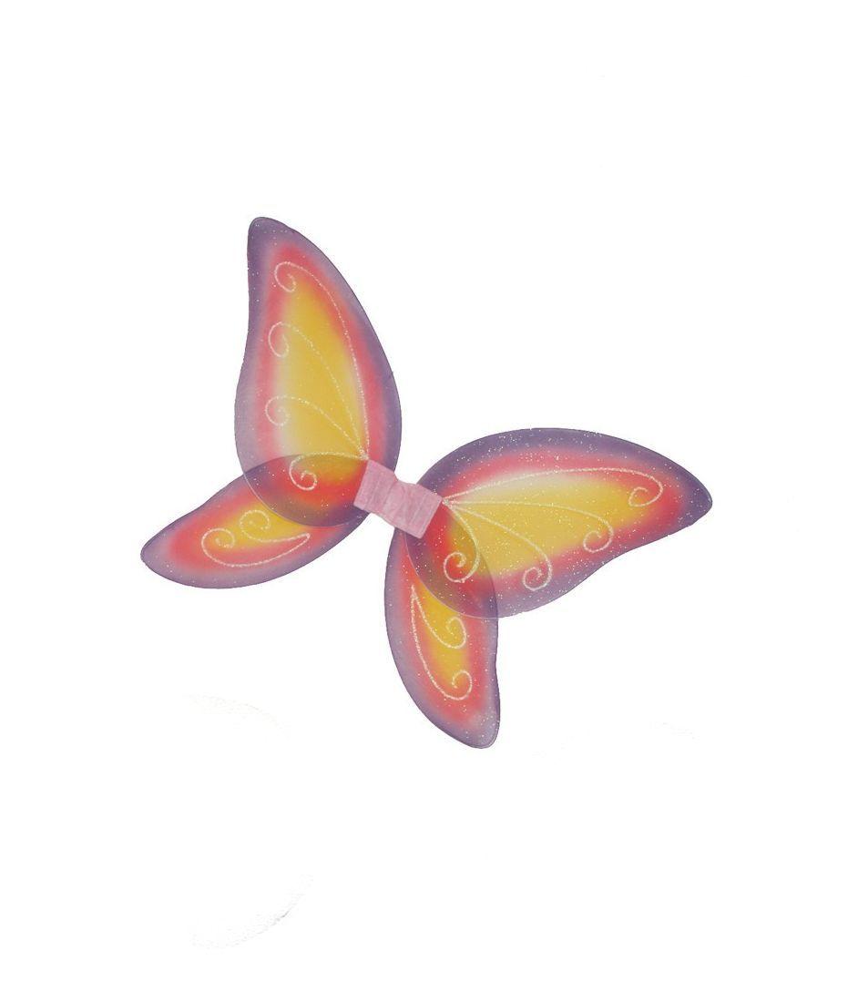 Розово-оранжевые сказочные крылья (UNI) - Крылья