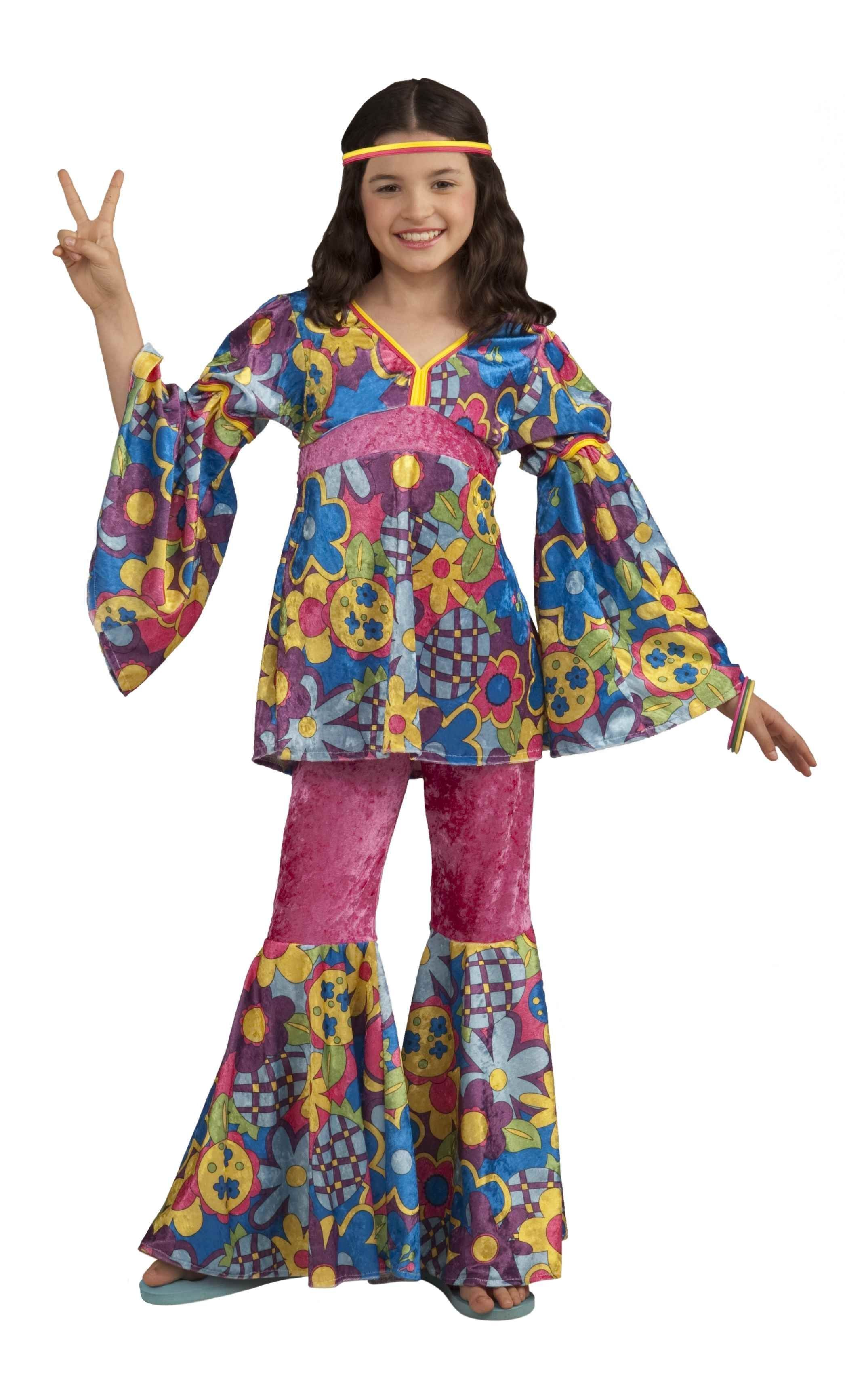 Костюм хиппи детский (30) костюм цветочной хиппи 48