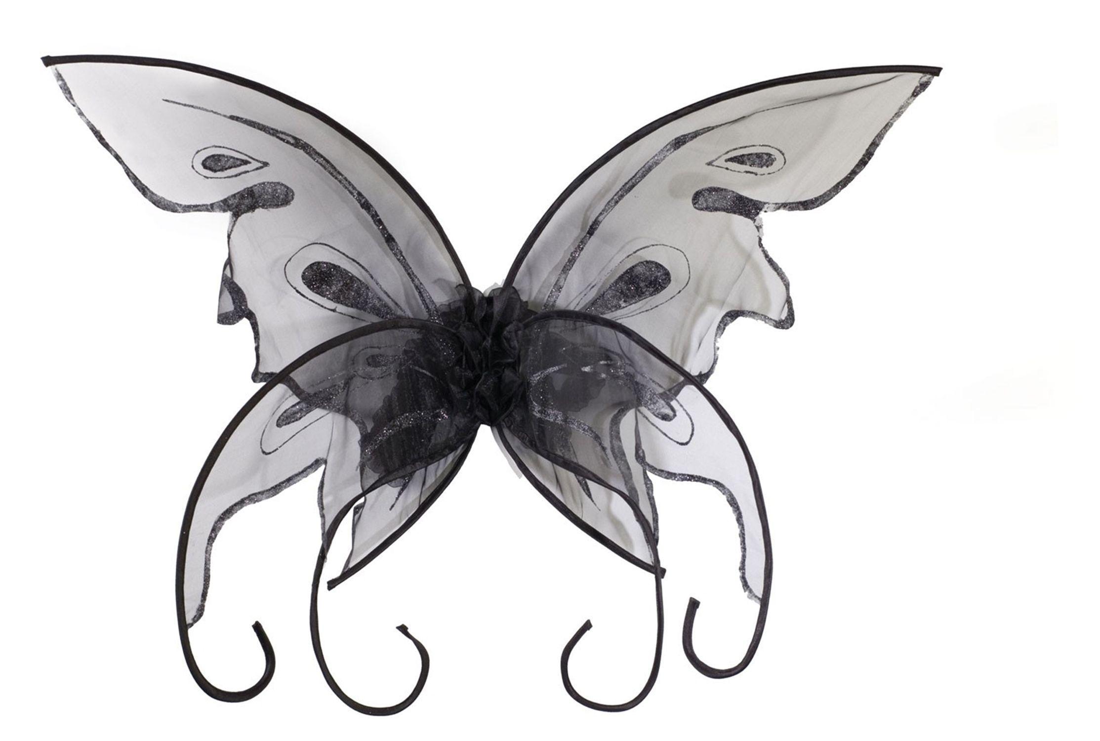 Черные крылья Бабочки (UNI) крылья бабочки 39х46