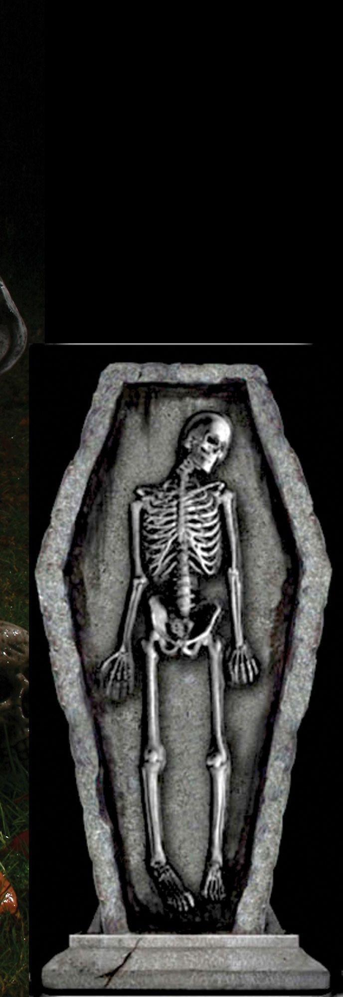 Готическое надгробие Скелет в гробу (UNI) надгробие с демоном uni