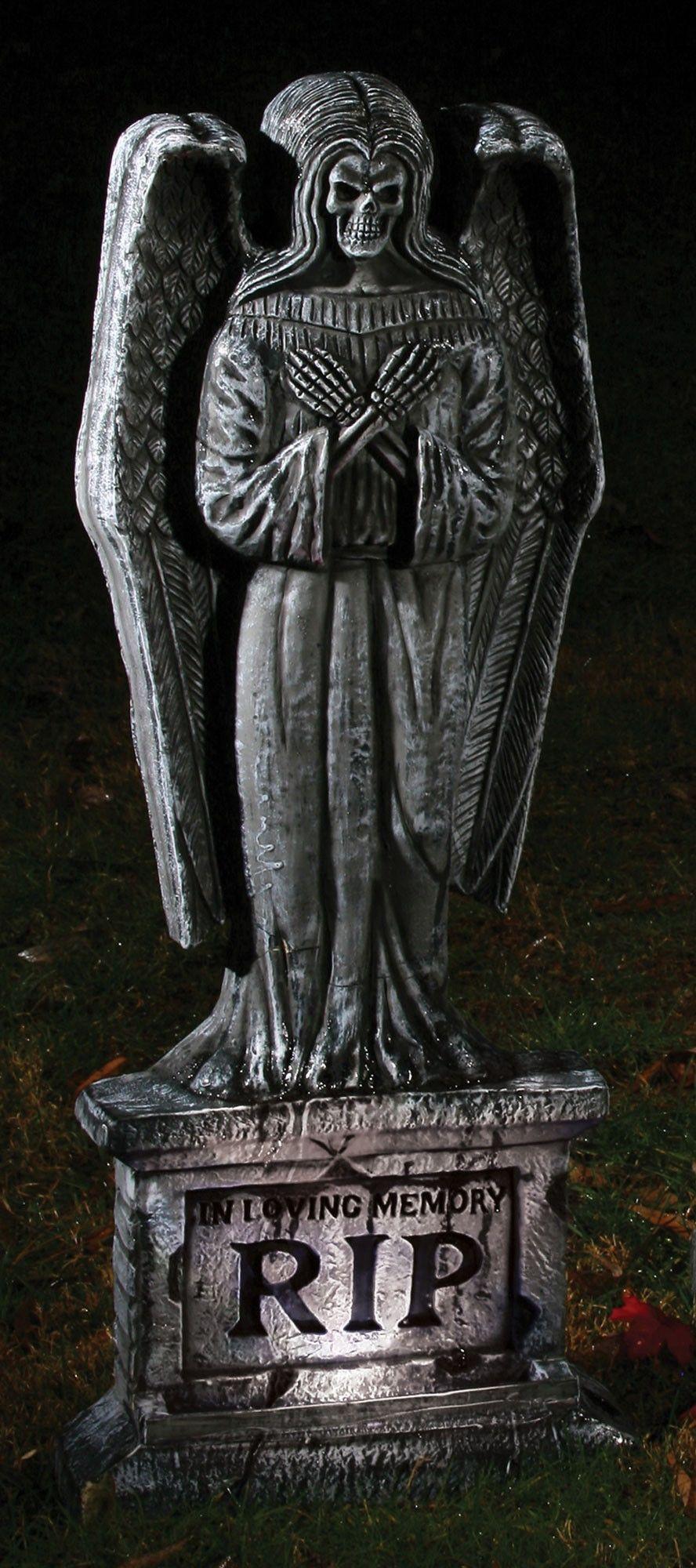Светящееся надгробие Падший ангел сувенир светящееся ожерелье с кулоном череп зеленый