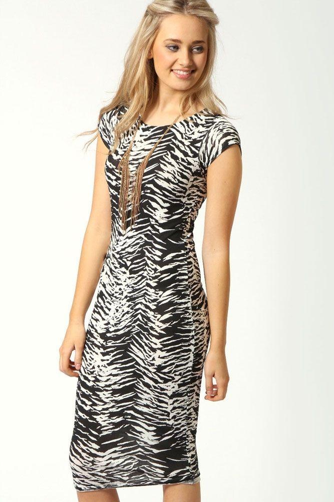 Платье черно-белое (40-44) -  Коктейльные платья