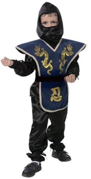 Детский костюм ниндзя синий (40)
