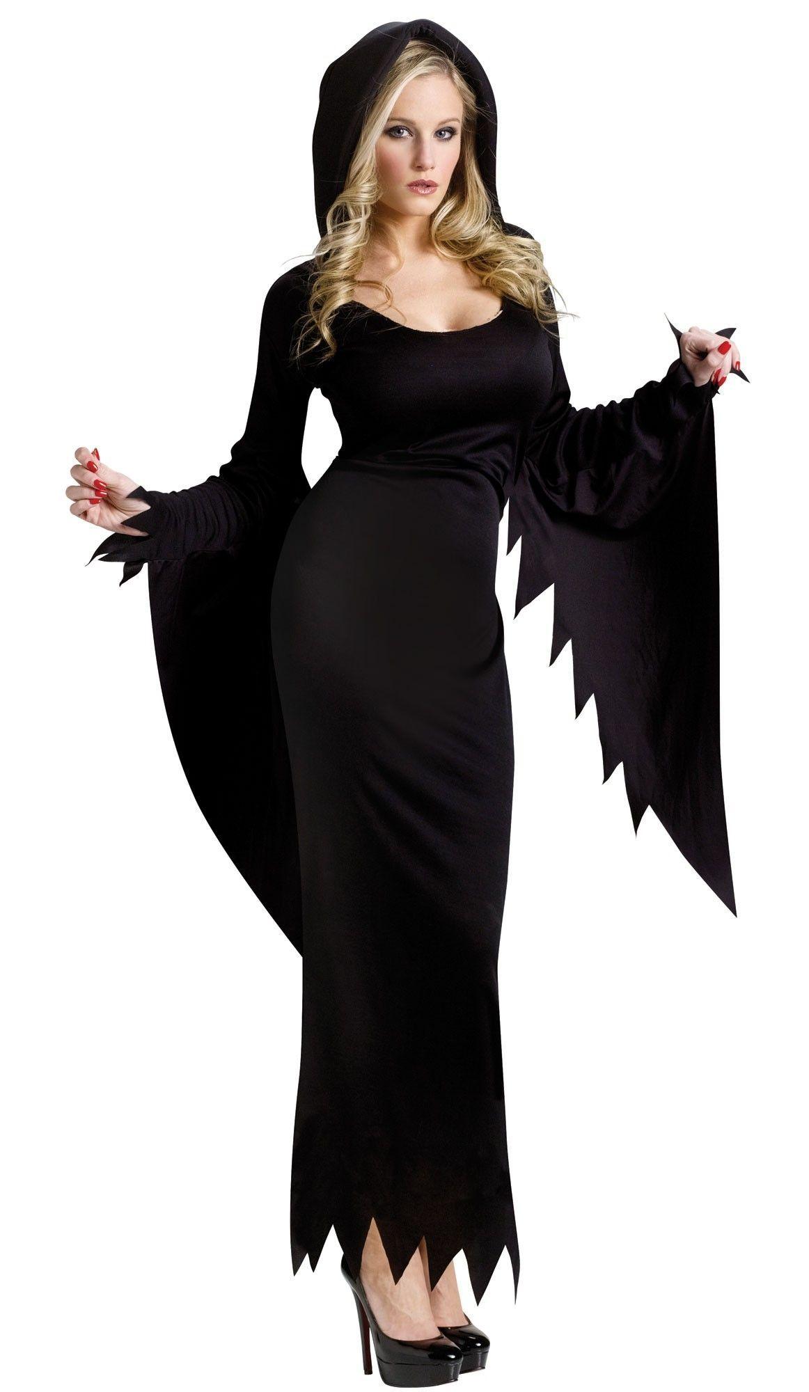 Черное платье с капюшоном (44) от Vkostume